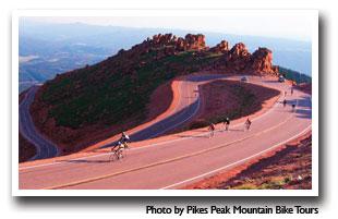 Biking The Pikes Peak Toll Road Scenic Drive In Colorado