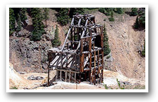A historic mine along US Hwy 550 on the San Juan Skyway, Colorado Vacation Directory