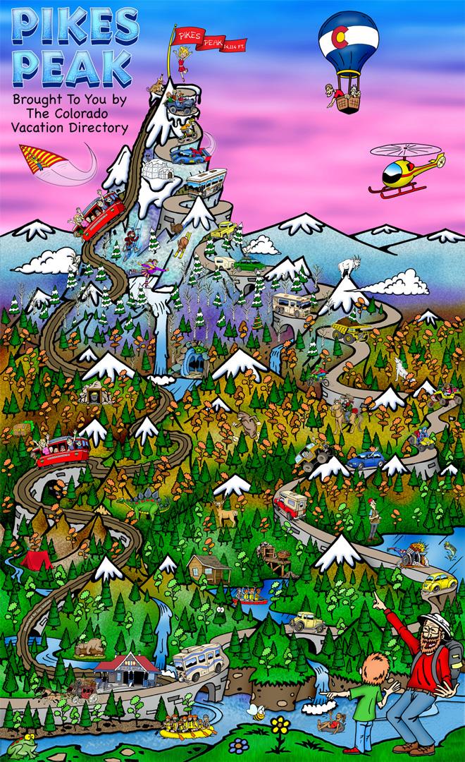 pikes peak national landmark colorado vacation directory