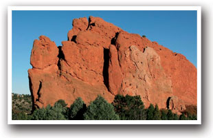 The Scotsman rock formation inside the Garden of the Gods, Colorado
