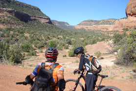 Mountainbikers in Red Canyon, Colorado
