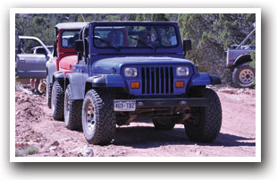 Jeeping off-road in Norwood, Colorado