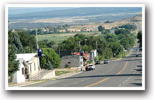 Main road through Norwood, Colorado