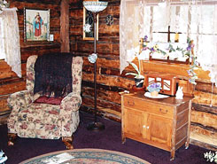 Interior of Connie's Mountain Orchid cabin interior near Buena Vista, Colorado