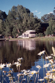 View of Pagosa Riverside Campground next to lake, the Colorado Vacation Directory