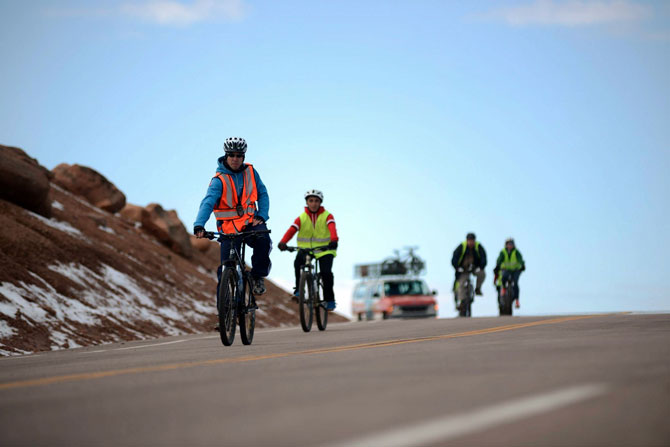 Pikes Peak by mountain Bike, Bikes and Transportation