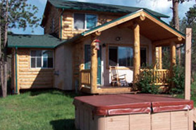 Exterior of Wilderness cabin 3 Bedroom Cabin and Hot Tub, Pikes Peak Resort in the Pikes Peak area of Colorado