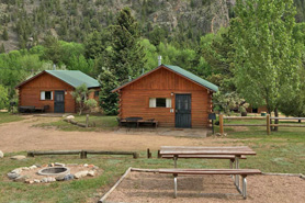 Cabin at Archer's Poudre River Resort in the Poudre River Canyon near Fort Collins, Colorado