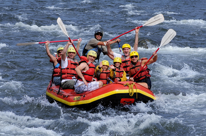 Group rafting river with Raft Masters Inc, near Colorado Springs and Denver, Colorado