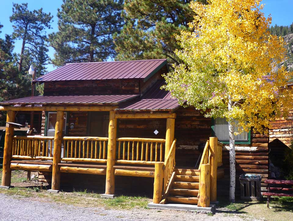 Aspen Tree And Cabin At Riverbend Resort Cabins Rv Park South Fork Colorado