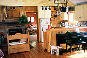 Kitchen at A River Bend Retreat in Allenspark, Colorado