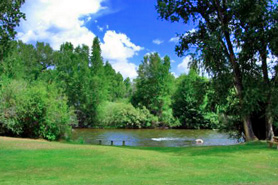 Rockey River Resort natural scenery and pond in Gunnison, Colorado