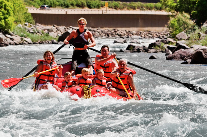Rafting with Colorado Adventure Center in Glenwood Springs Colorado
