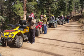 Full line of Quad ATVs to take on tours at Rockhound ATV Tours Guided in the Pikes Peak Area, Colorado