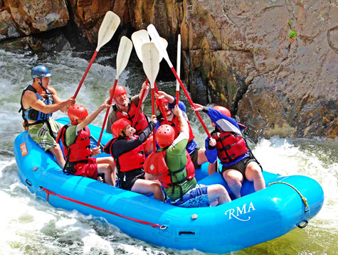 Rafting the Cache la Poudre River and the Upper Colorado River with Rocky Mountain Adventures, Colorado