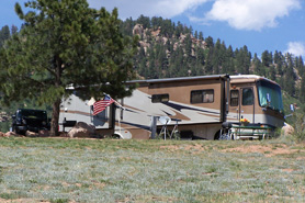 RV sight at Rocky Top Motel, RV Park and Campground in the Pikes Peak Area of Colorado