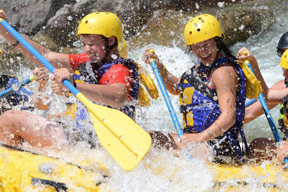 Guided rafting tours with Sage Outdoor Adventures in Wolcott, Colorado