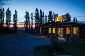 Sand Dunes Pool & RV Park with a pretty sunset near Alamosa Colorado