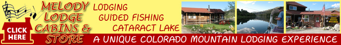 Click here for Melody Lodge Cabins & MLC Fishing Service, Cabins and Fishing at Green Mountain Reservoir near Summit County Colorado