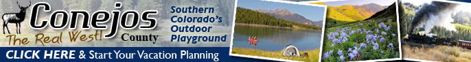Click here for the Conejos Tourism Council in Antonito Colorado