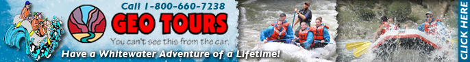 Click here for Geo Tours, rafting on the Clear Creek, Upper Colorado, and Arkansas rivers, in Colorado