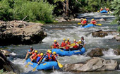 Rafting the Clear Creek river in Colorado