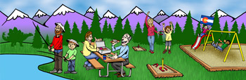Colorado family friendly rentals and accommodations illustration
