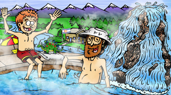 Colorado hot springs and spas illustration