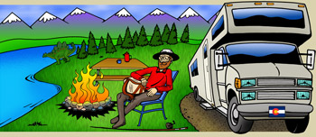 Colorado rv parks with hook-ups illustration