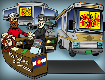 Colorado rv sales, service and rentals illustration