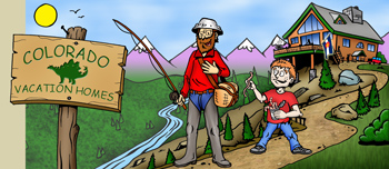 Colorado vacation homes rentals illustration