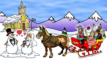 Colorado weddings, mountain weddings and elopements illustration