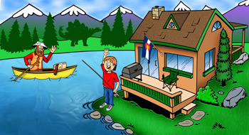 Colorado rentals near water or on water setting illustration