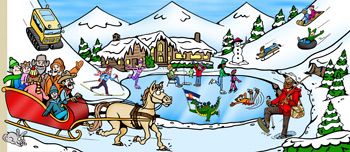Colorado family activities and fun things to do illustration