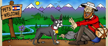 Colorado pet friendly and dogs ok rentals illustration