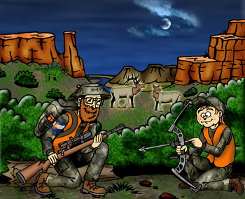 Colorado hunting outfitters and guides illustration