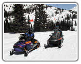 Family Snowmobiling in Colorado