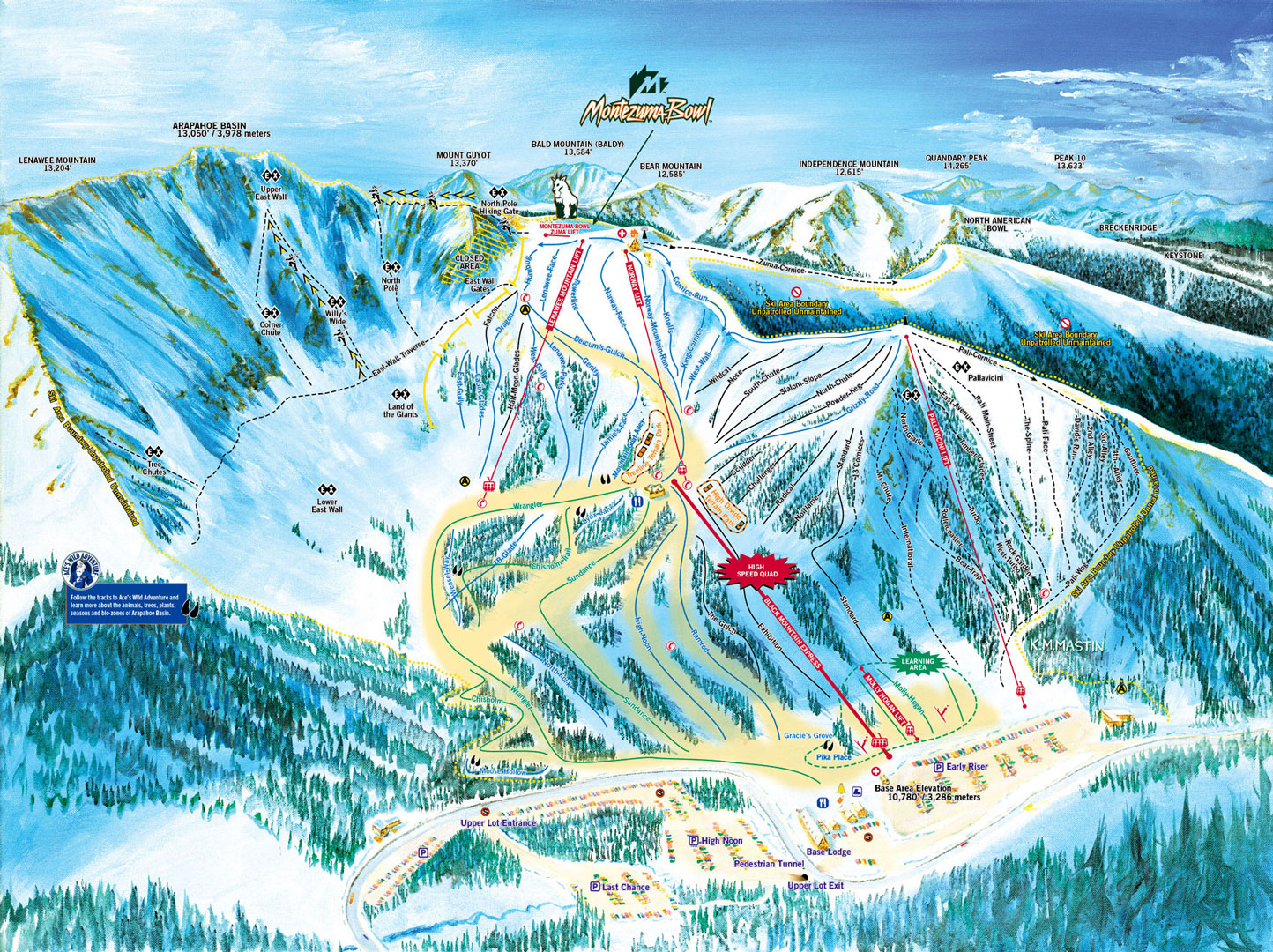 Arapahoe Basin Resort Skiing Snowboarding Colorado Vacation