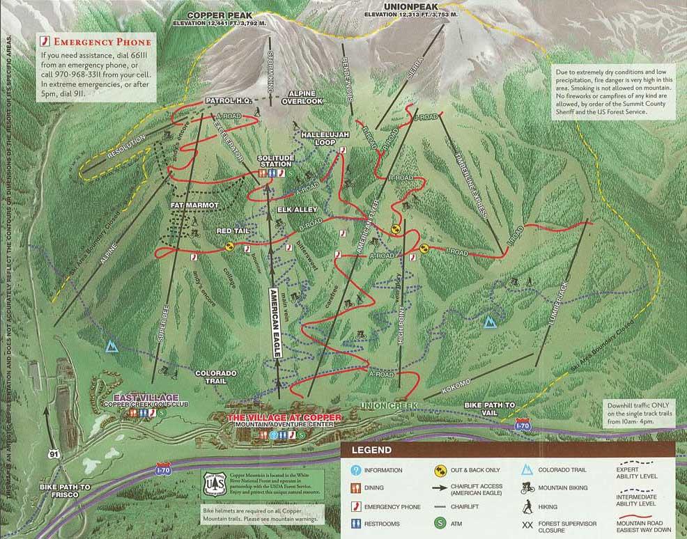 Copper Mountain Resort Skiing Snowboarding Colorado Vacation - Us 36 bike path map