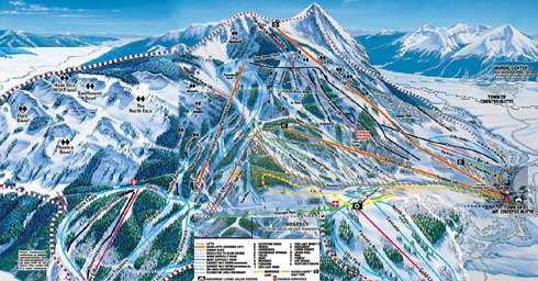 Crested Butte Mountain Resort Skiing Snowboarding Colorado - Us map of ski resorts