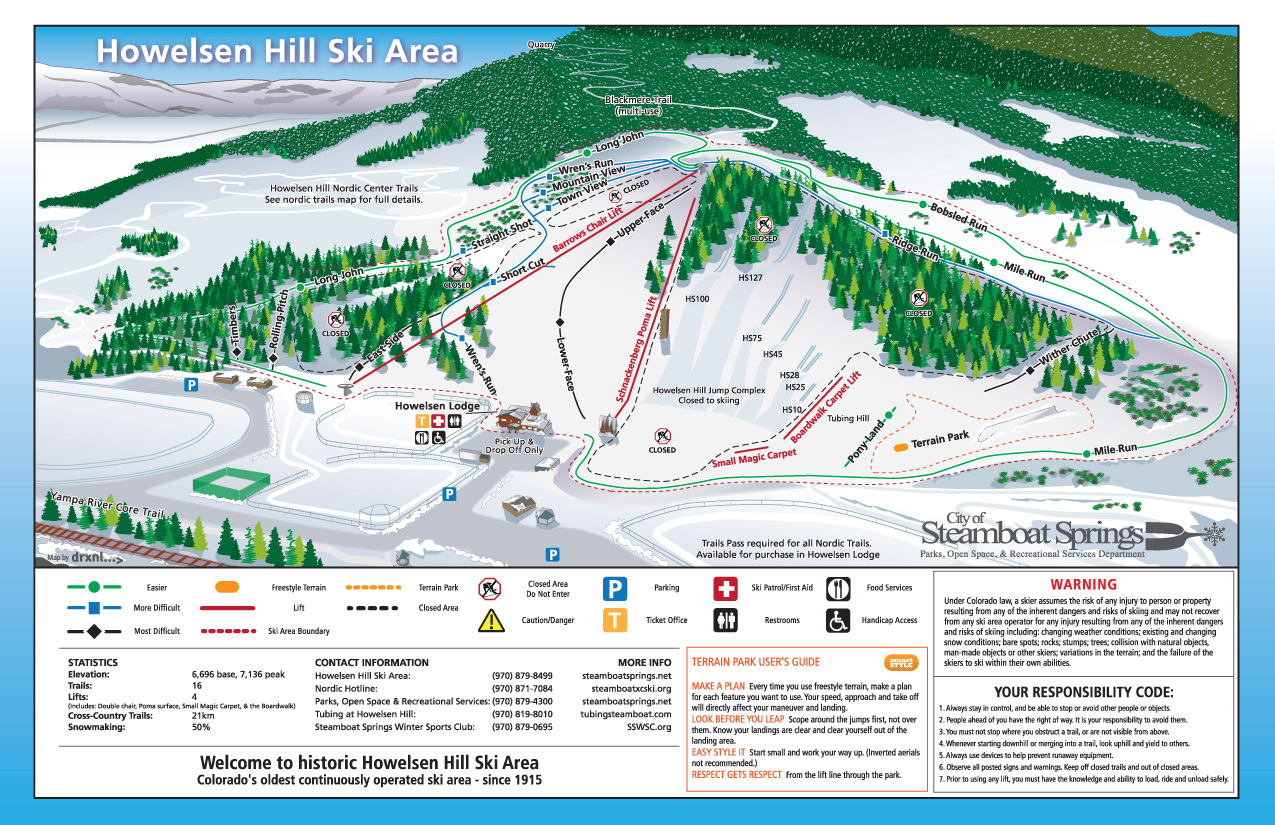 Howelsen Hill Ski Resort Skiing Snowboarding Colorado Vacation - Map of colorado ski resorts and cities