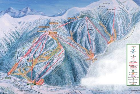 Keystone Ski Season Keystone Ski Resort Trail Map
