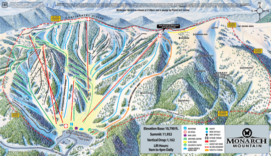 3c354b884032 Winter Trails Map Monarch Ski Resort trail map