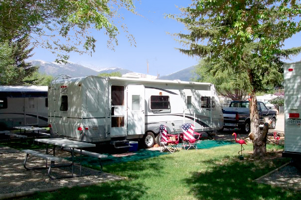 RV camping at Snowy Peaks RV Park near Buena Vista, Salida, Leadville, and Twin Lakes, Colorado