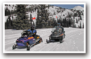 Snowmobiling in the South Fork Area, Colorado