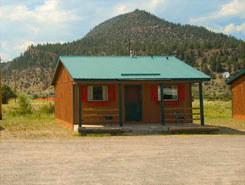 A cabin at South Fork Lodge, Cabins & RV Park, in the South Fork Area of Colorado