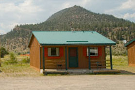A cabin at South Fork Lodge, Cabins & RV Park, in the South Fork Area