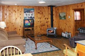 Interior of cabin at South Fork Lodge, Cabins & RV Park, in the South Fork and Creede area