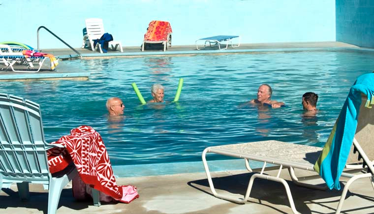 4 Adults in Warm Pool at Healing Waters Resort & Spa in Pagosa Springs, Colorado near Durango