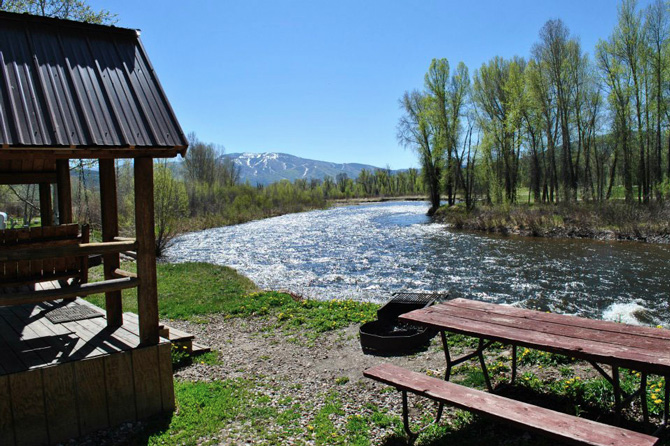 Creekside RV site at the KOA in Steamboat Springs Colorado